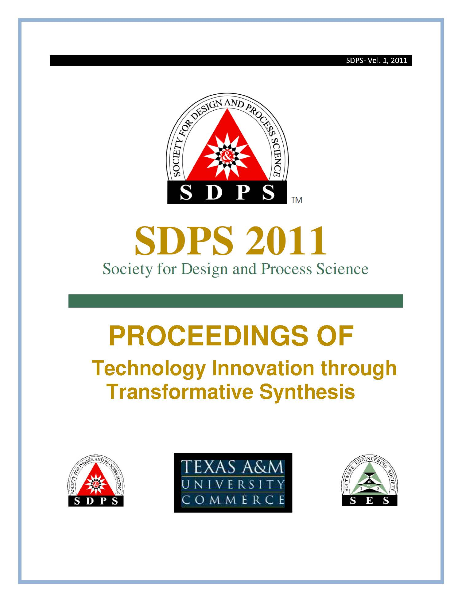 SDPS 2011 proceedings cover